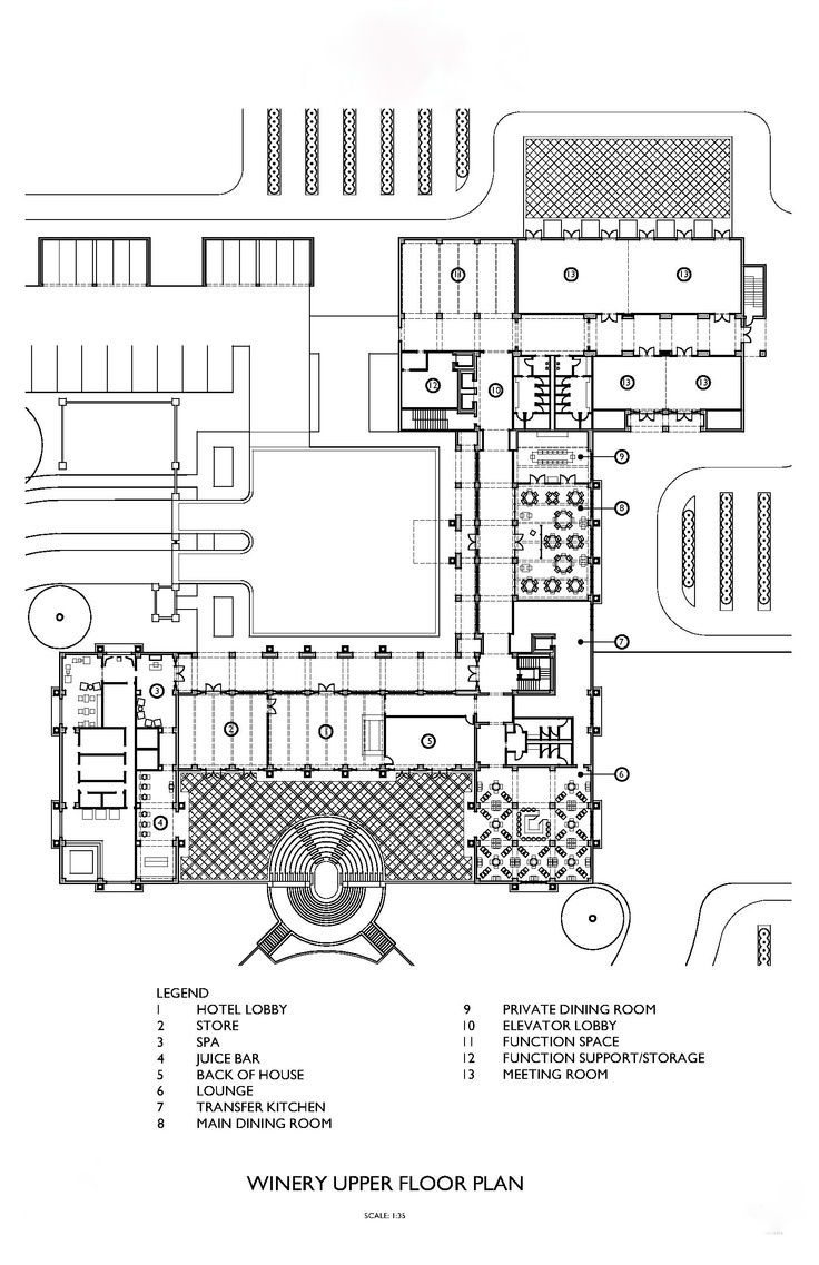 17 best images about hospitality architecture on pinterest for Winery floor plans by architects