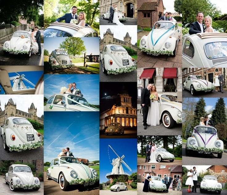 Polly Pootles   classic Volkswagen VW Beetle car hire for weddings   Kent   London   vintage wedding transport
