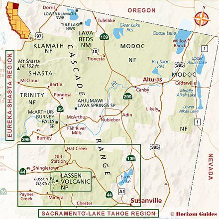 Northern california tourist map