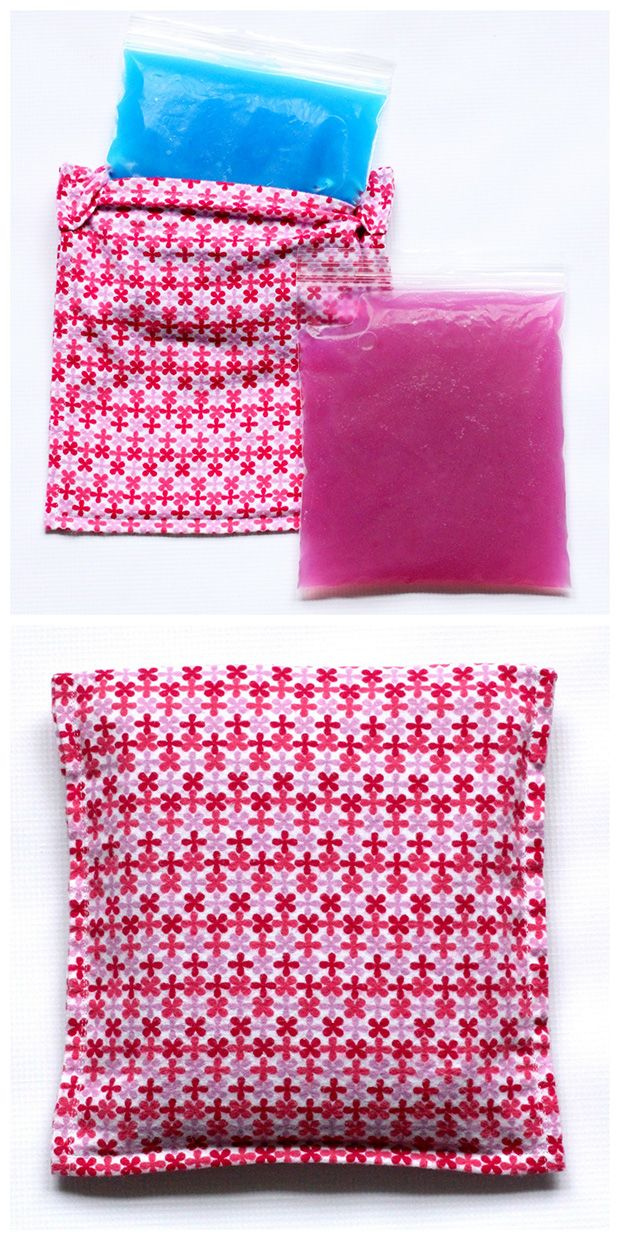 AFFORDABLE & EASY...Learn how to make this reusable DIY ice pack and cozy cover with this easy tutorial. A quick and inexpensive project.