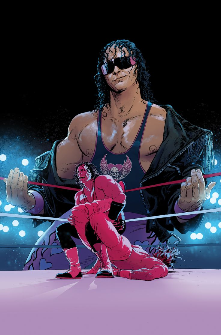 """WWE Issue #2 Bret """"Hitman"""" Hart Variant Cover on Behance"""