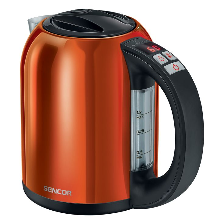Sencor Smart electric Kettle with temperature control SWK 1273OR - Volume of 1.2 l - Electronic temperature control with setting adjustable - LED display with the current temperature continuously shown