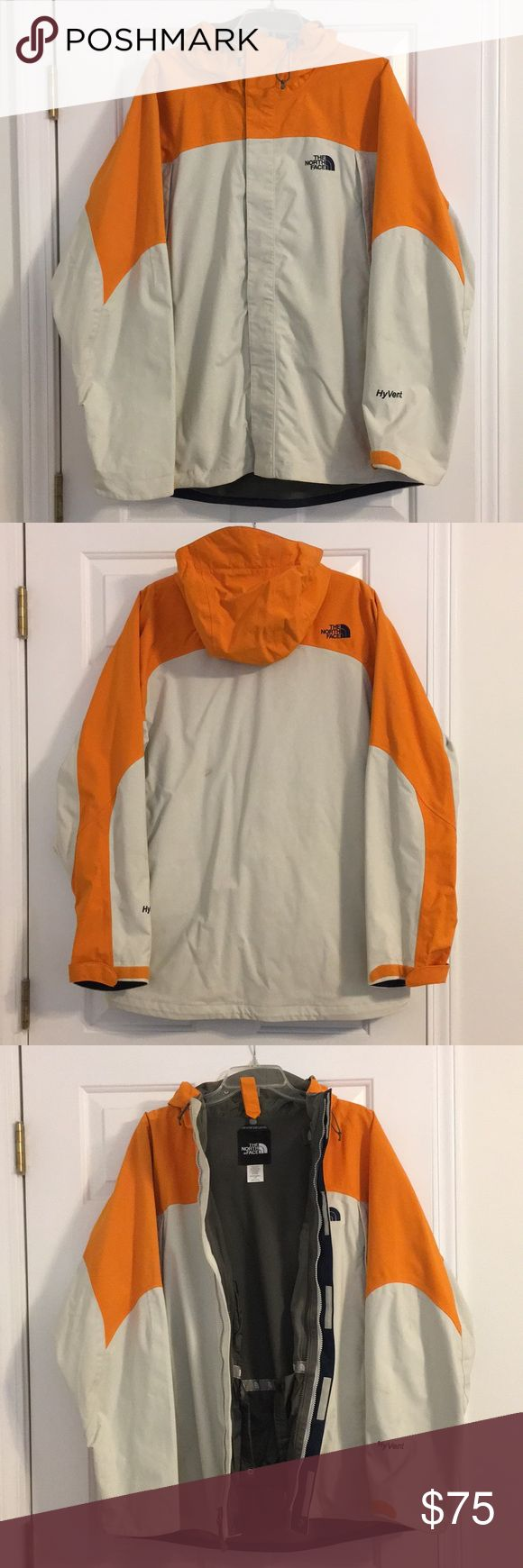 The North Face Men's Ski/Snowboard Jacket Tan and gray, lined jacket. HyVent technology. Good condition, some signs of wear (small stain on back of jacket, see picture). The North Face Jackets & Coats Ski & Snowboard