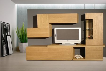 Casa Ampia-Unit Margie- έπιπλο tv - καθιστικό-διακόσμηση σαλονιού-ξύλο Δρυός