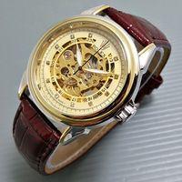 Jam Tangan Rolex Automatic / Otomatis Combi Gold Kulit Coklat