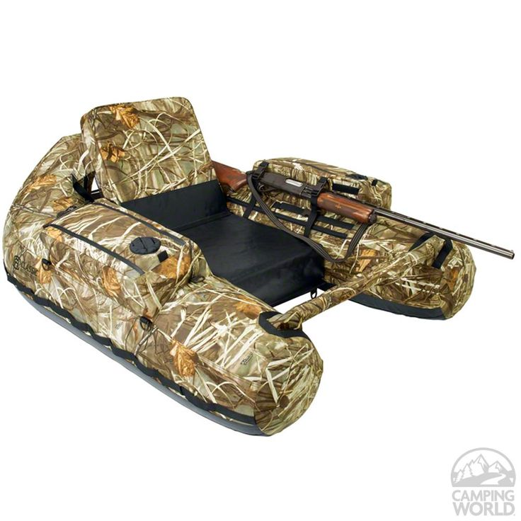 If your man is a hunter, this is a must-have. Two float tubes in one -- a fishing float tube and a full-featured hunting float tube with a matching decoy bag.