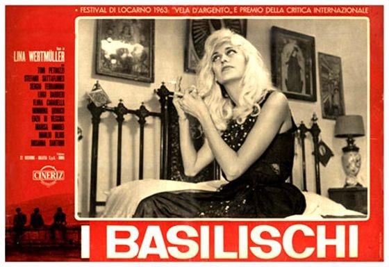 """""""I BASILISCHI"""", LINA WERTMULLER L'esordio della grande regista romana è un affresco della vita apatica di tre giovani della provincia lucana condotto con ironia graffiante e sotterranea indignazione."""