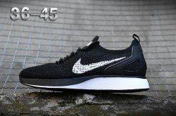 2a7ec6c9083f2 Adaptable Nike Air Zoom Mariah Flyknit Racer Black White Men s Women s  Running Shoes Sneakers