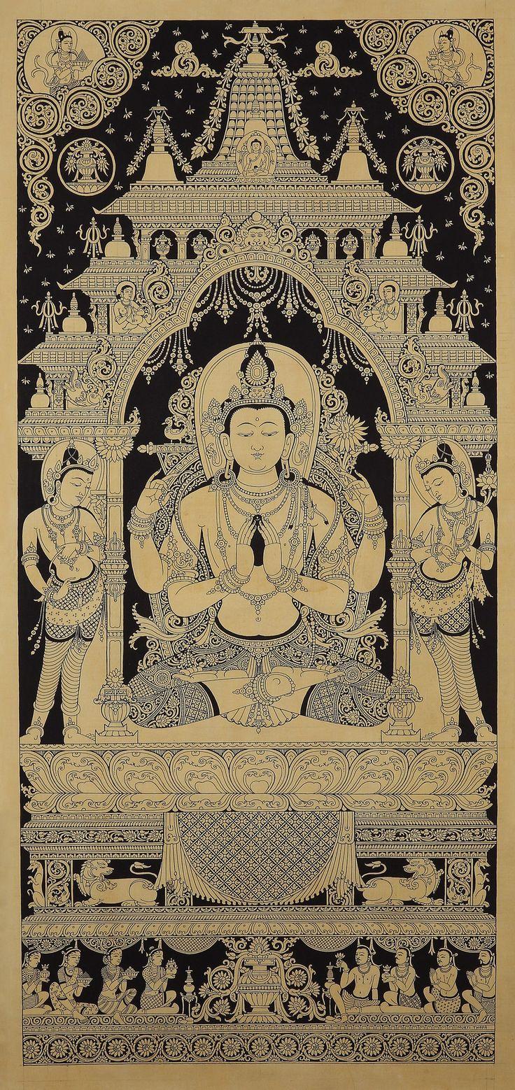 Chenrezig Avalokitesvara by Mukti Singh Thapa | Mahakala Fine Arts