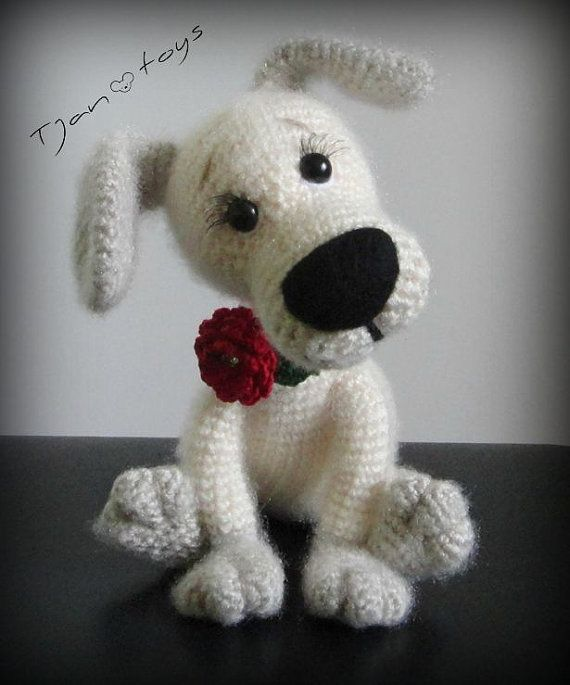 Puppy OOAK Little Dog Stuffed Animals Crochet Handmade Soft toy decor Amigurumi Made to order