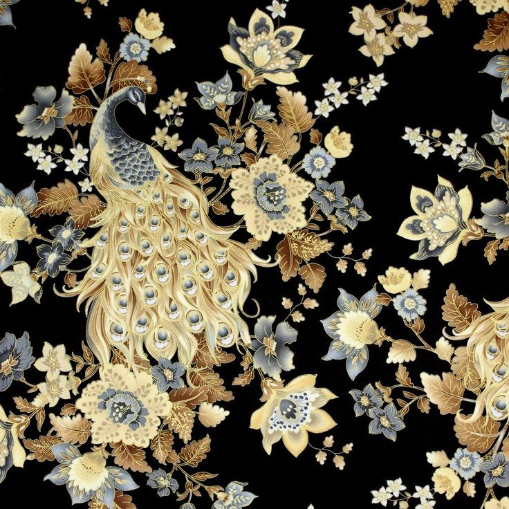 17 best images about plume by timeless treasures on - Tapete schwarz gold ...