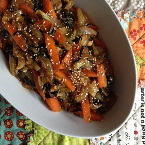 Greenway36: gewoktes Pak Choi-Möhren-Gemüse