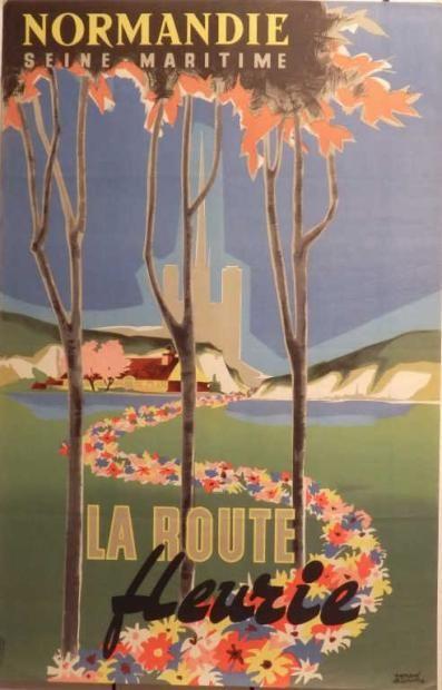 Normandie - Seine Maritime - La route fleurie - illustration de Bernard Delcourt -