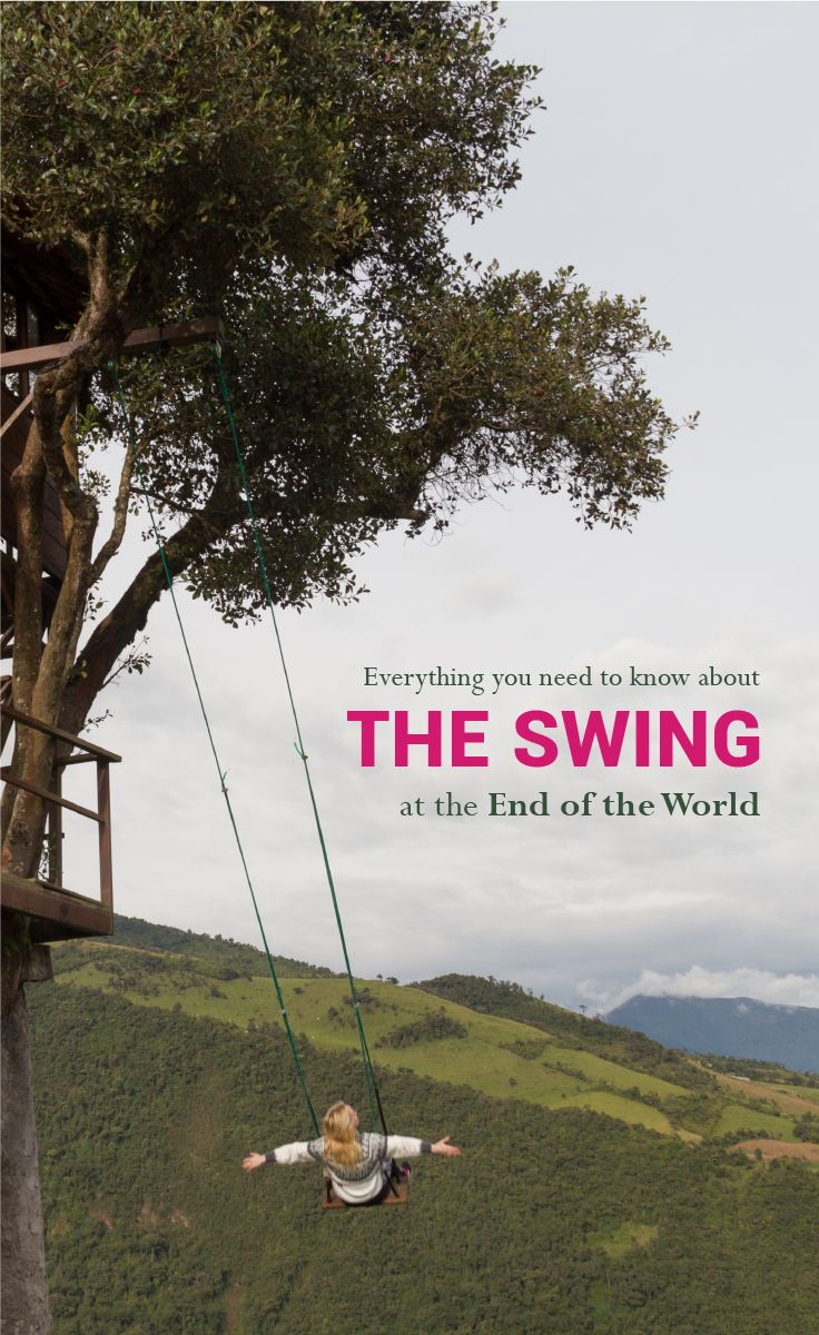 You have probably seen pictures of the swing at the end of the world.  That swing is in Baños, Ecuador.  In the last couple of years, this city got famous because of the Casa Del Arbol Swing, especially among millennials. Baños was famous before that.  The Viking Abroad. #casadelarbol #banos #ecuador #baños