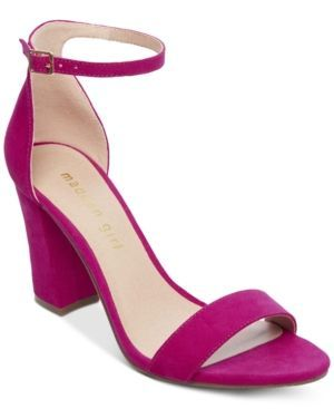 08bd2e67695bac Madden Girl Bella Two-Piece Block Heel Sandals - Pink 8.5M in 2019 ...