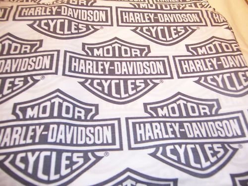 Harley Davidson Motorcycle Cotton Fabric 38x47 Inches