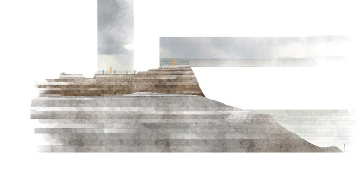 Cliff Section, Island School.    Aoife O'Leary
