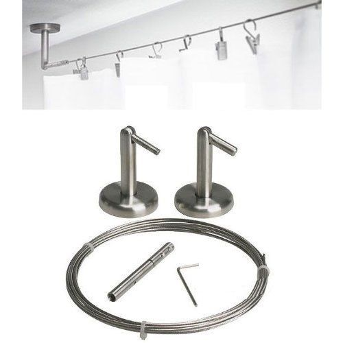Curtain Wire Rod Set Stainless Steel Multi Purpose 16 5 Wire 2