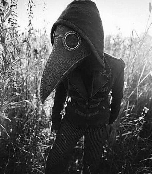 Creepy plague doctor mask