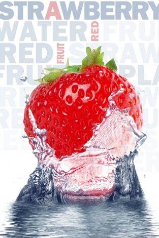 Truskawka - Strawberry - plakat - 61x91,5 cm  Gdzie kupić? www.eplakaty.pl