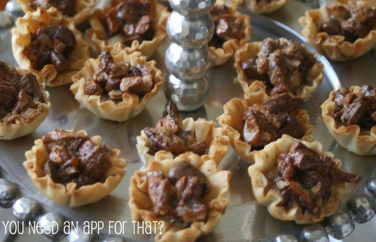 Mini Chocolate Pecan Pies | RECIPES: MINI FILLO SHELLS ...