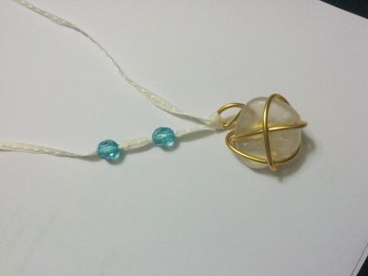 Pendant from sea stones