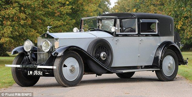 Lord Mountbatten, a second cousin of the Queen, was one of Britain's great naval officers and the 1929 Rolls-Royce is painted in battleship grey to honour his Navy career.