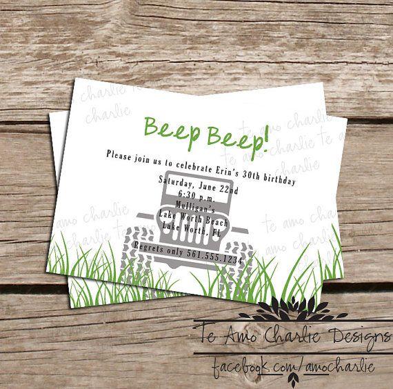 31 best Jeep Party images on Pinterest Birthdays, Birthday party - fresh invitation card of birthday