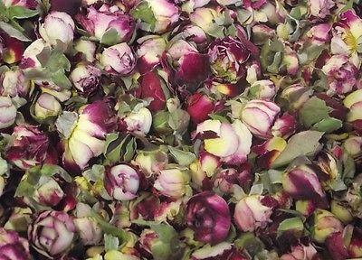 Dried Rose Buds -Purple and Cream Ripple - Various Quantities