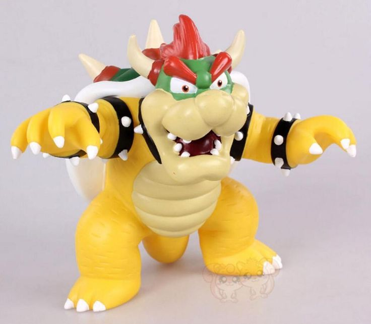 "NEW Super Mario Bros 4.5"" Bowser KING KOOPA PVC figure Gift toy SHIP FROM U.S. #SuperMario"