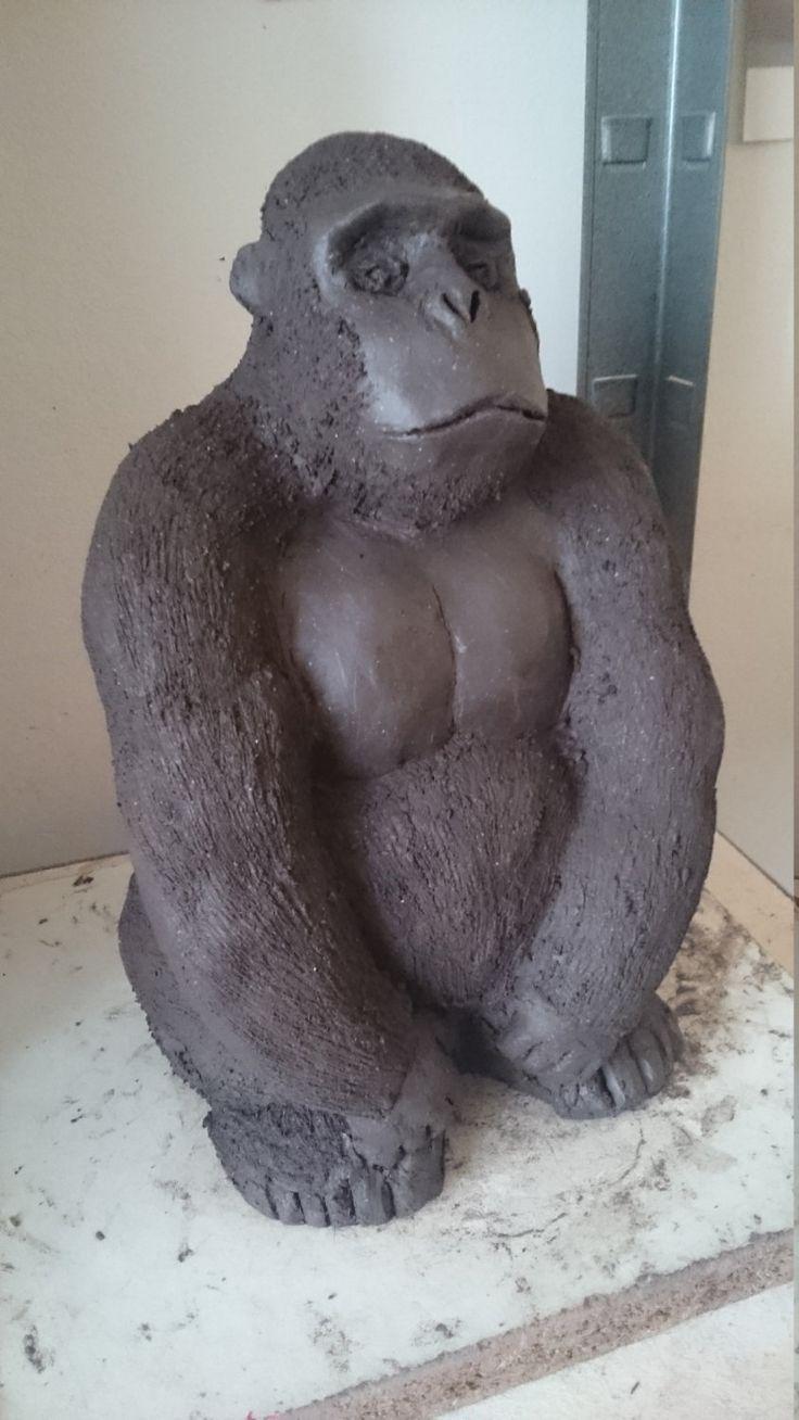 gorille dos argenté de la boutique Atelierfagecia sur Etsy