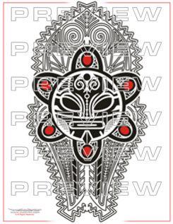 Awesome Taino Tribal Sun Tattoo Design Mesoamerican