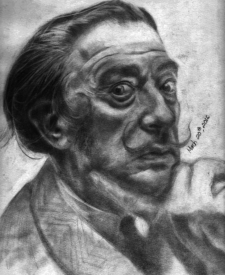 Salvador Dali Pencil On Papar A3