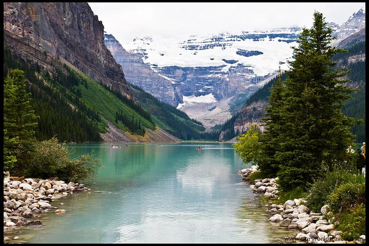 Lake Louise, Canada    Lake Louise experiences a subarctic climate. Annual snowfall averages 3.3m and winter temperatures below −50°C have been recorded.