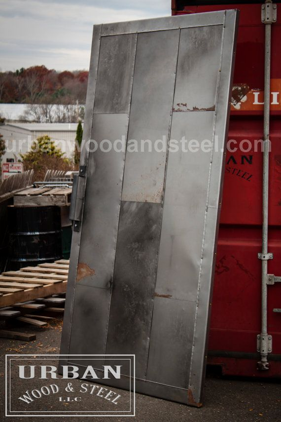Industrial Steel Fire Door by urbanwoodandsteel on Etsy