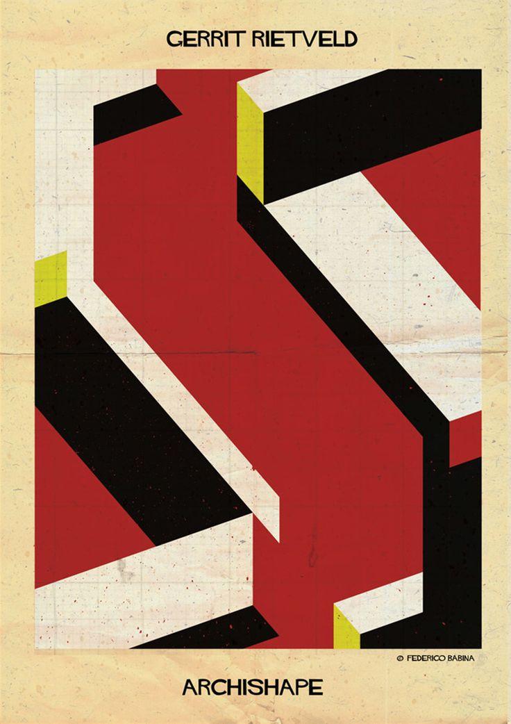 Archishape: Gerrit Rietveld. AD España, © Federico Babina