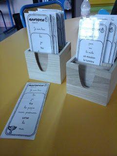 """Dami1 a fabriqué un atelier qu'elle appelle """"les rapidos"""" pour la lecture rapide de petits mots de plus en plus complexes. Le fichier estici. Encore merci à elle pour le partage de tout ce beau trava"""