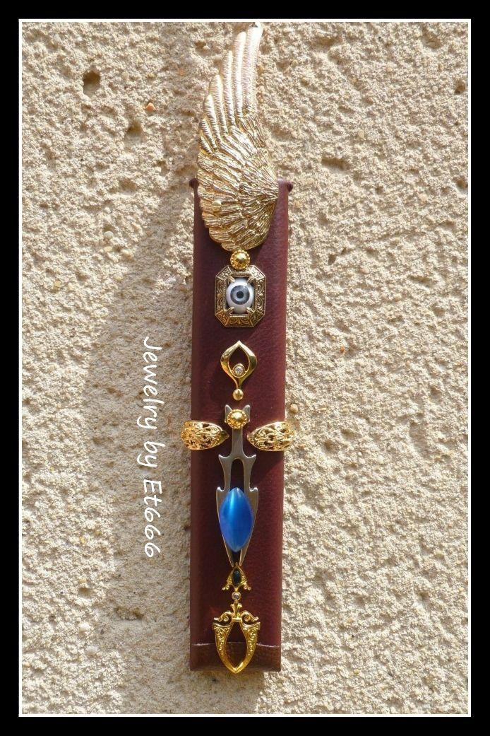 Bijoux créateurs pendentif cartouche. Enigme