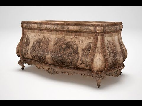 Costruzione di una scrivania classica - Construction of a classic desk - YouTube