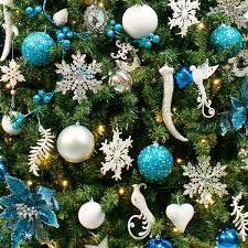 Afbeeldingsresultaat voor inspiratie kerstboom blauwe ballen
