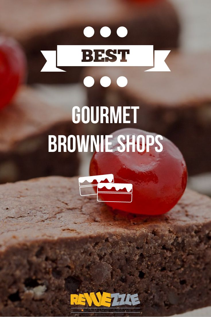 These Gourmet Brownie Shops bring you the best and most indulgent brownies the world has to offer! Based on Variety, Budget, Specialty and Gift Options. #brownies #chocolate #best