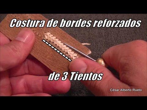 """Costura de bordes reforzados de 3 tientos """"El Rincón del Soguero"""""""