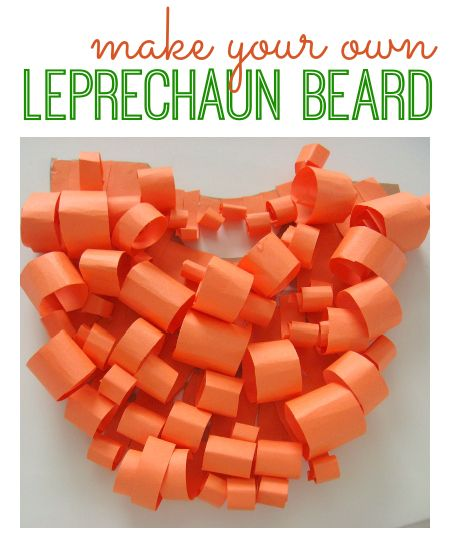 How to make a Leprechaun Beard - Perfect for St. Patrick's Day pretend play.