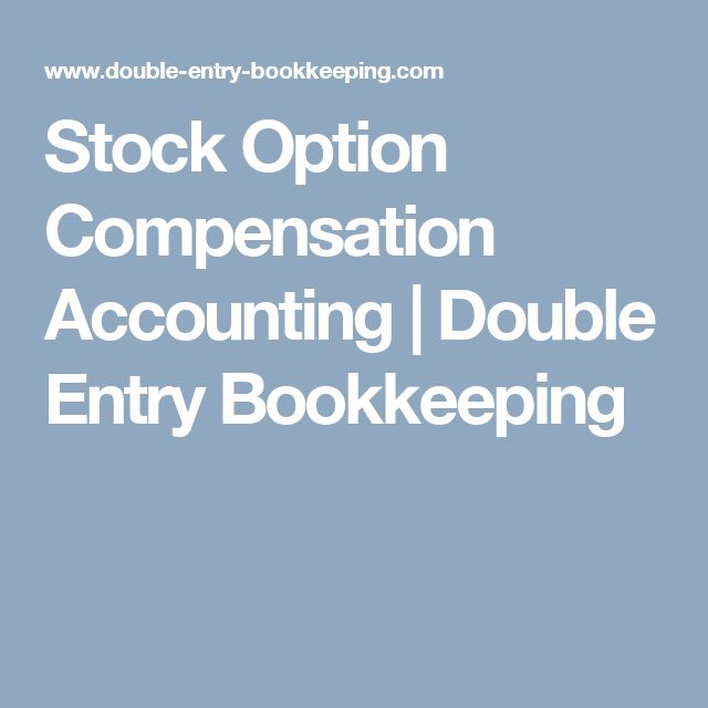 Compensation expense stock options journal entry