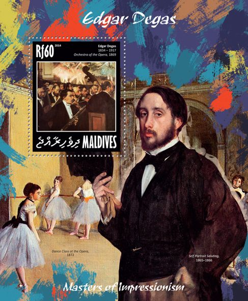 """MLD 14204 bEdgar Degas (""""Orchestra of the Opera"""" 1869)"""