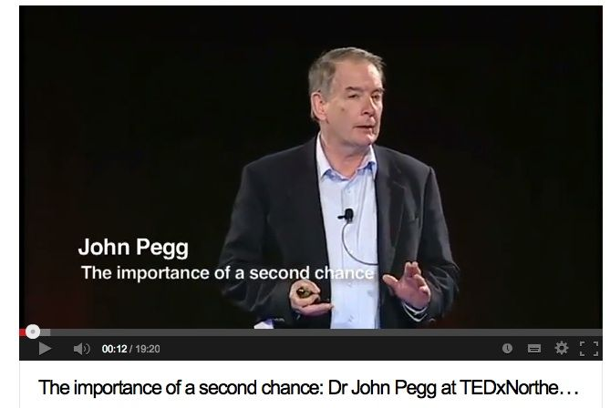 Professor John Pegg at TEDx Northern Sydney Institute and the importance of a second chance. http://blog.une.edu.au/quicksmart/2013/10/20/the-importance…john-pegg-tedx/
