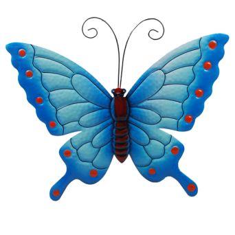 decoratie vlinder metaal 40cm div.klr