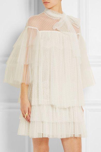 Natasha Sahashi's Style Blog What Makes You Happy ?!  : Lace and tulle mini dress レースやチュールミニドレス