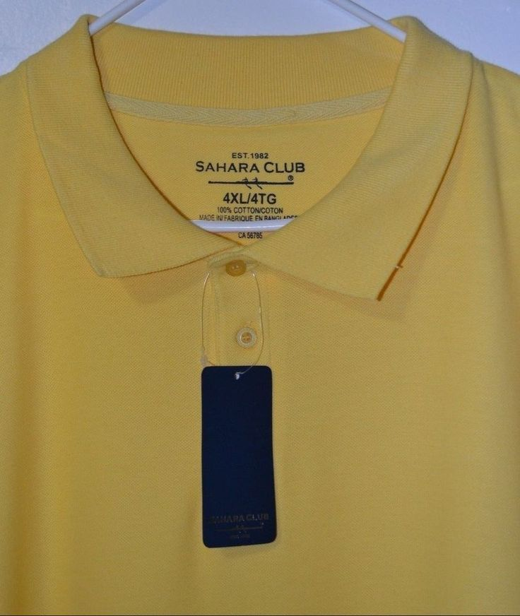 Nwt Men 39 S Sahara Club Yellow Big Tall Casual Golf Polo
