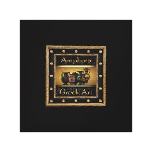 Greek art stretched canvas print